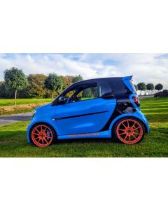 Komplett Radsatz WIZARD Racing Orange mit Hankook Bereifung Smart 453
