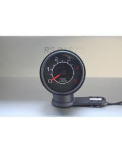 Drehzahlmesser für Diesel oder Benziner / Gehäusefarbe grau - Ziffernblatt schwarz / Passion