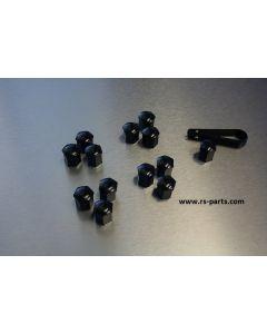 Abdeckkappen für Radschrauben in schwarz / Schlüsselweite 17 mm