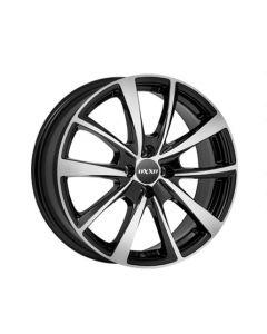 Komplett Radsatz OXXO Vidorra schwarz glanz / Front silber Smart 453
