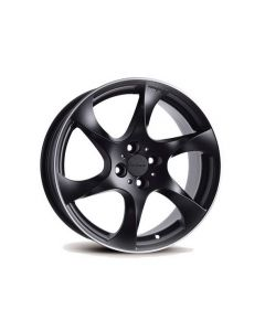 Komplettradsatz SPEEDY schwarz matt mit Allwetter Bereifung für Smart 453 ForTwo / ForFour
