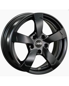 Komplettradsatz Torino matt black mit Bereifung Smart ForTwo / ForFour 453